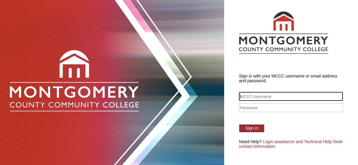 montgomery county community college login