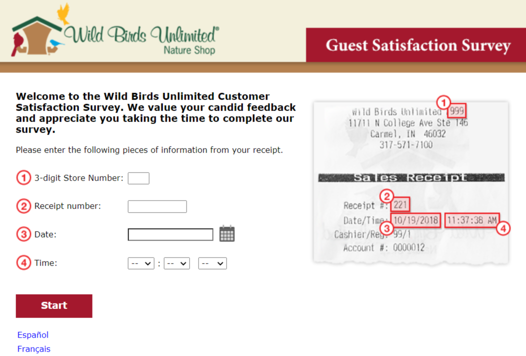 Wild-Birds-Unlimited survey